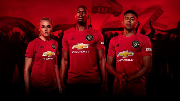 244a3ac6038 New Manchester United 19 20 home shirt celebrating treble anniversary  revealed