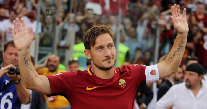 Francesco Totti responds perfectly after falling victim to youngster's skill