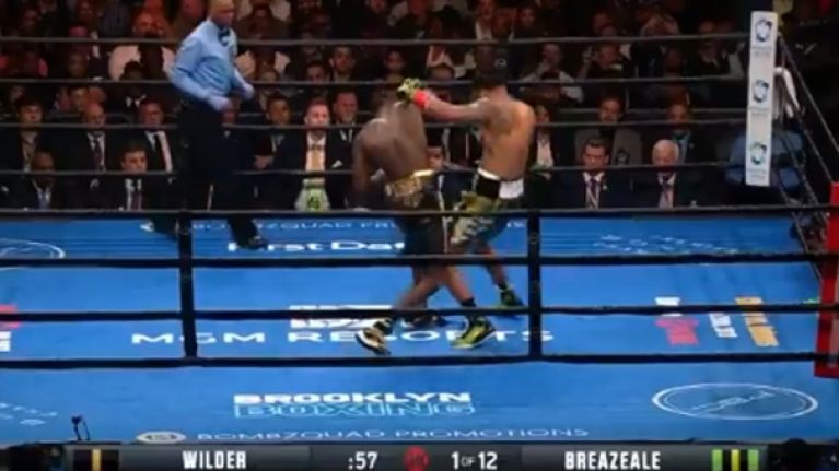 Deontay Wilder sends message to Anthony Joshua after devastating Breazeale knockout