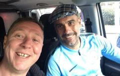 Pep Guardiola gets lift home from treble celebrations from Man City fan
