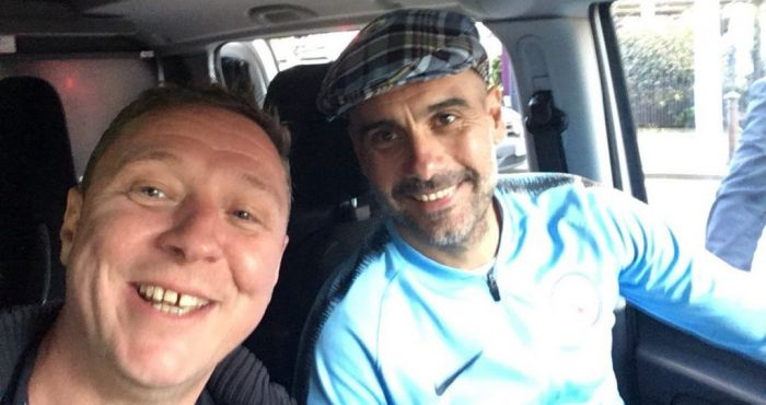 Pep Guardiola gets lift home from treble celebrations from BBC engineer