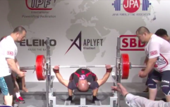 11 stone man sets new bench press world record with epic 225 kg lift