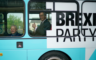 Nigel Farage 'trapped in Brexit bus' after arrival of group with milkshakes