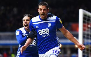 Lukas Jutkiewicz dresses as himself in full Birmingham kit on stag do flight out of Stansted