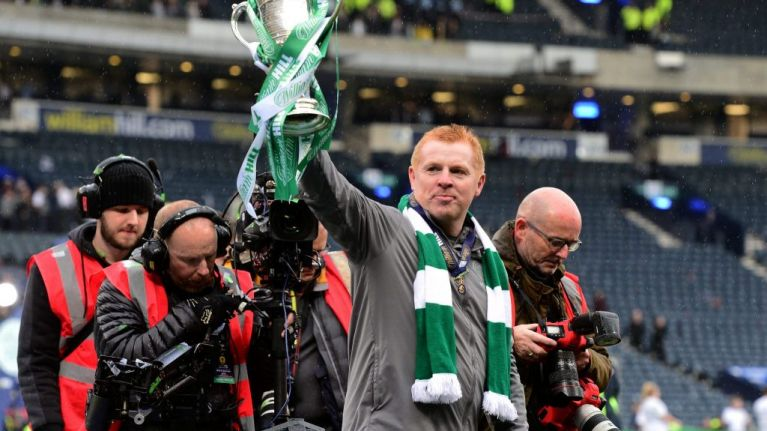 Neil Lennon offered Celtic job after winning historic treble treble