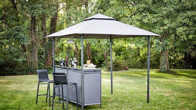 Argos is selling a gazebo with a built-in bar for a bargain price