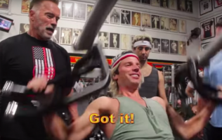 YouTube comedians find out what it's like to train with Arnold Schwarzenegger