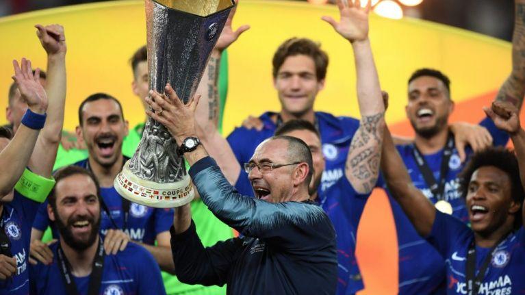 Maurizio Sarri pulls out massive cigar immediately after Europa League win