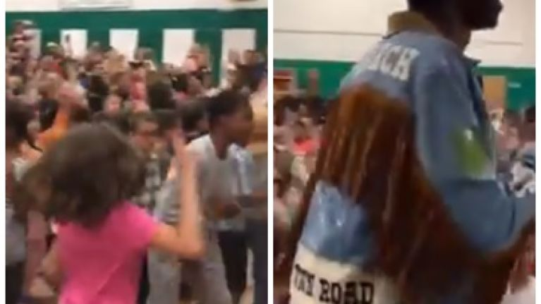 WATCH: Rapper Lil Nas X performs 'Old Town Road' at primary school in the most wholesome video you'll see today
