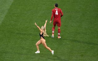 What Champions League Final pitch invader was advertising