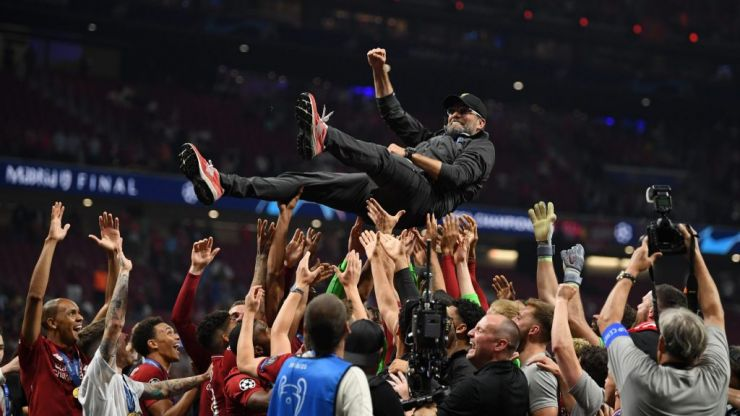 Jurgen Klopp says he's 'half pissed' in Champions League final interview