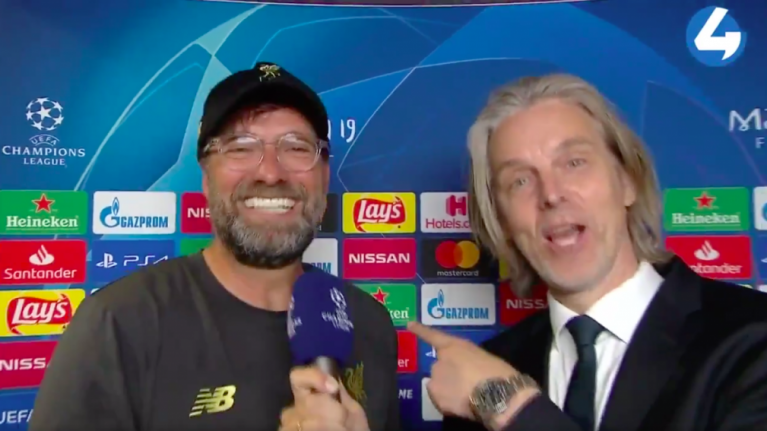 Jurgen Klopp sings 'Let's talk about six, baby' in post-match interview