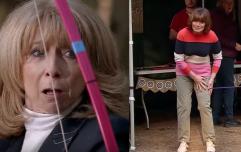 A scene by scene breakdown of Gail Platt shooting an arrow at Lorraine Kelly