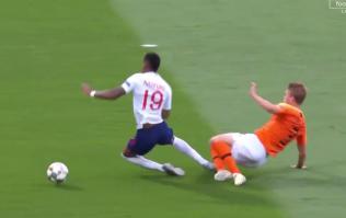 WATCH: Matthijs de Ligt concedes penalty as he fouls Marcus Rashford