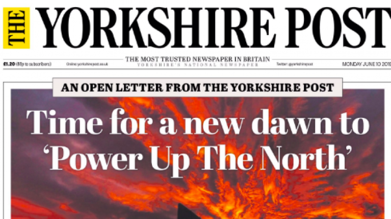 Thirty northern newspapers unite to call for 'revolution' to combat 'regional inequalities'