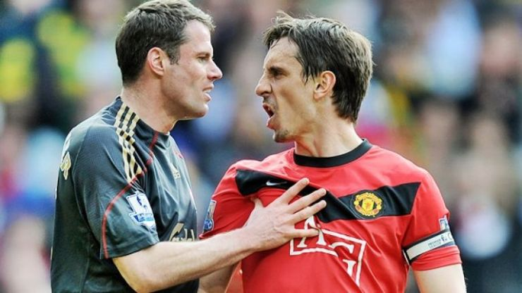 Gary Neville absolutely rinses Jamie Carragher for mistake in Soccer Aid game