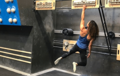 Olympic climbing hopeful shows unreal pull-up strength in the gym