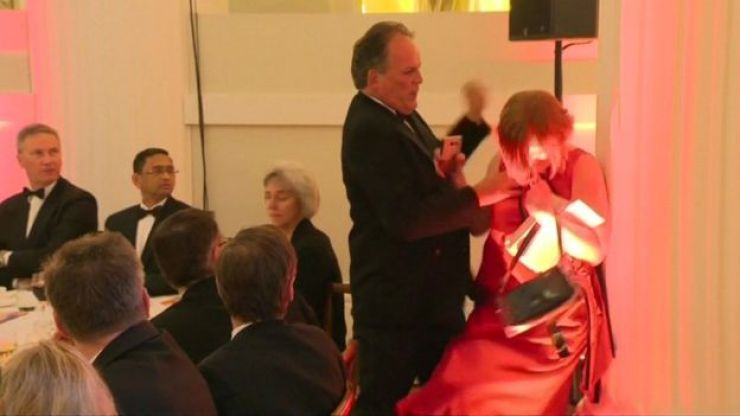 MP Mark Field accused of assaulting climate protester at event