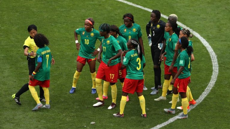 Cameroon players furious at VAR decisions against England