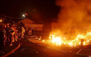 Bogside bonfire: Republicans party and burn paratrooper effigy