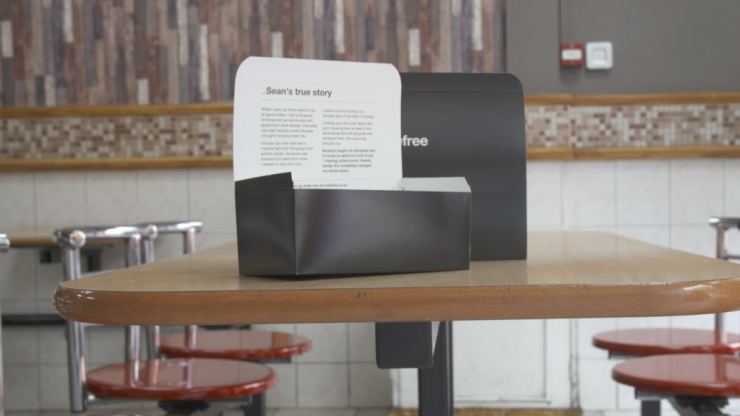 Will #KnifeFree chicken shop boxes solve knife crime?