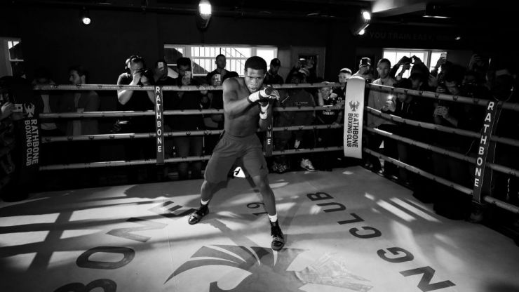Devin Haney on sparring with Floyd Mayweather