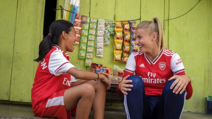 Arsenal team up with Save The Children to provide football coaching for Indonesian girls