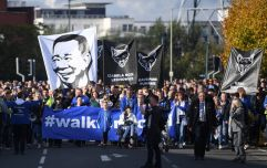 Leicester City fans pay tribute to their late chairman