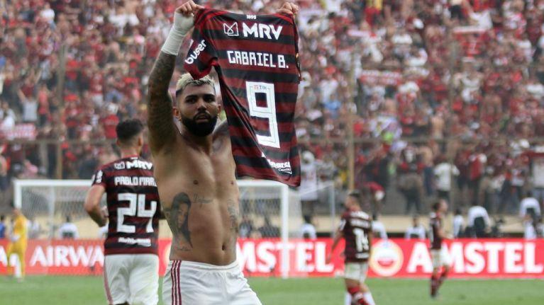 Flamengo fans celebrate their first Copa Libertadores since 1981