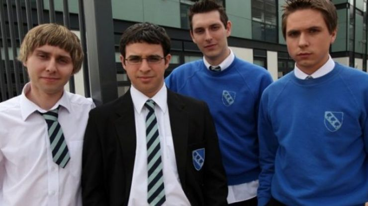 Americans learn about British schools from the Inbetweeners