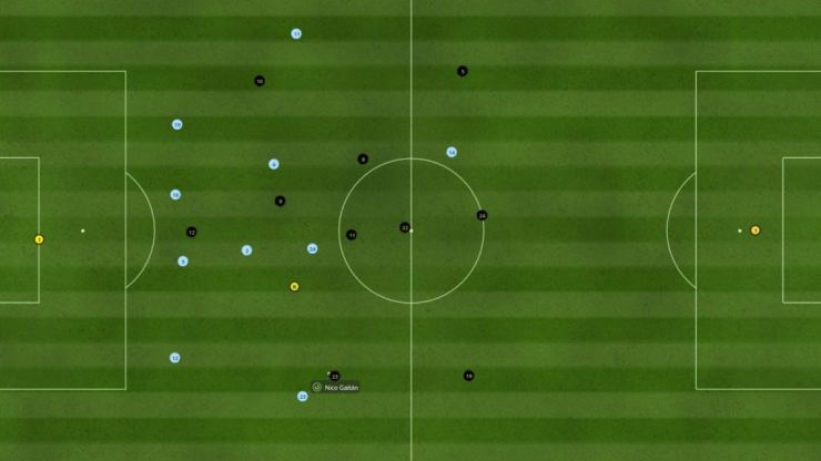 Football Manager: Veteran player hands his team to a rookie