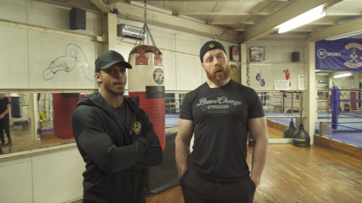 Can a WWE wrestler and boxing champion learn from each other?