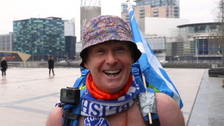 Speedo Mick: Walking Britain in his swimming trunks for charity