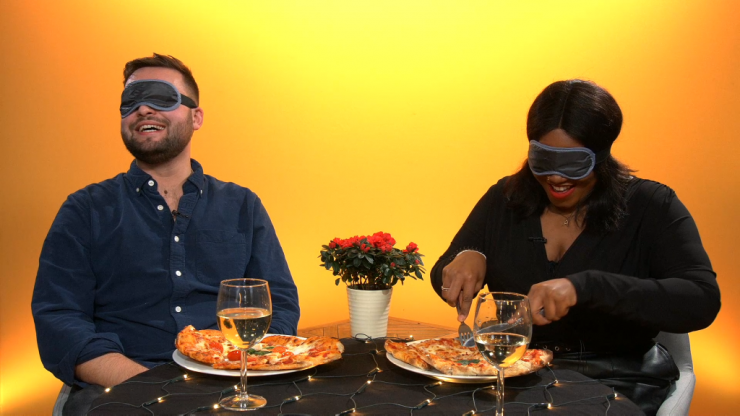 Welcome to blind dating with actual blindfolds