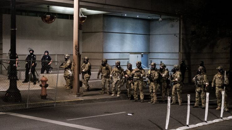 Portland turns into warzone as Trump sends in troops