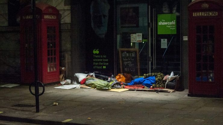 The government has broken its promise to house the homeless