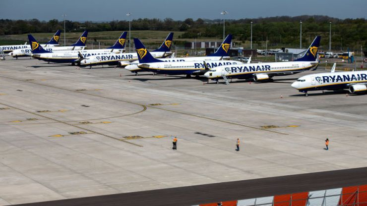 Ryanair says it plans to resume 40% of flights in July