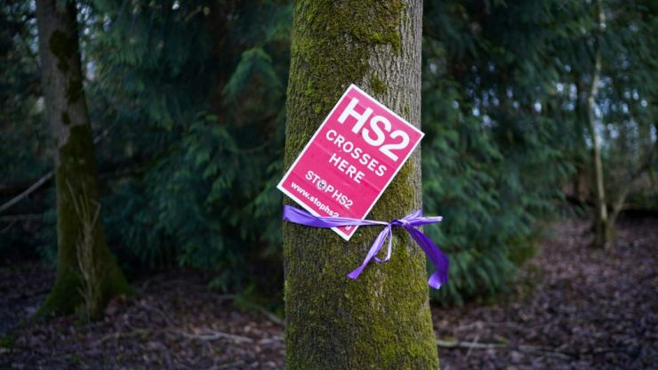 HS2 protesters take to the trees to halt construction