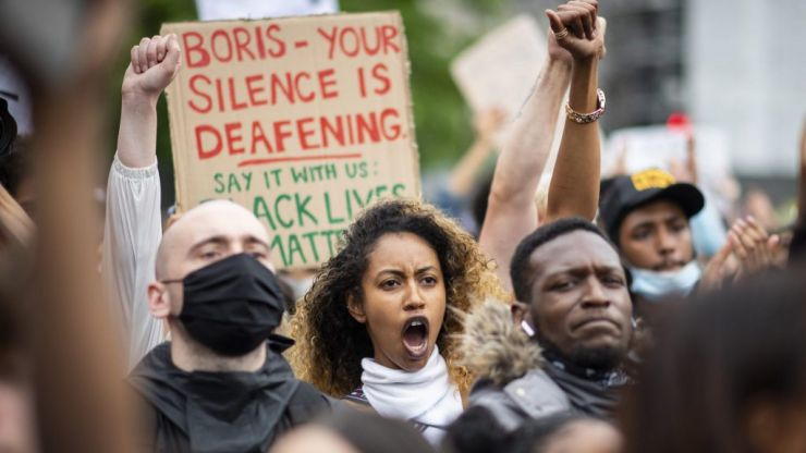 Thousands march in London for Black Lives Matter