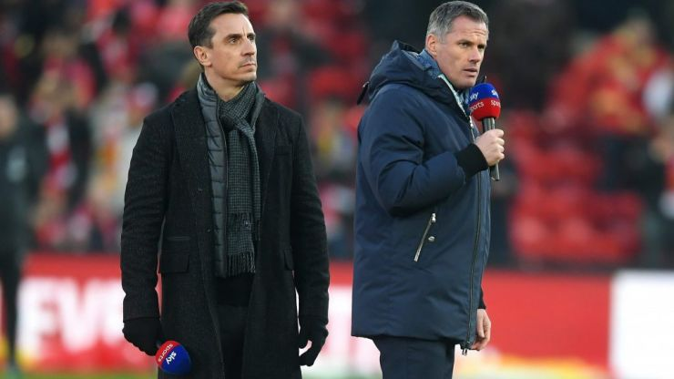 Carragher and Neville on Roy Keane texts they get during live shows