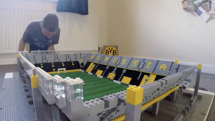 Child brilliantly recreates Borussia Dortmund stadium out of lego