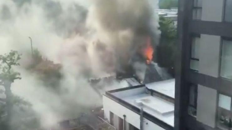 Cadbury Club engulfed in blaze as smoke spreads over Birmingham