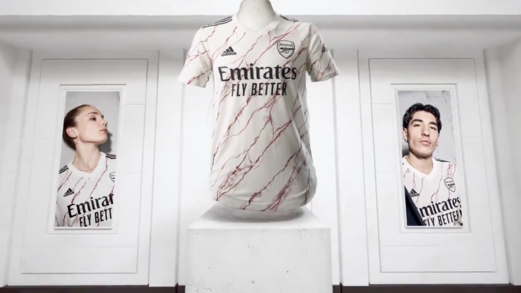 Arsenal's kit reveal features naked David Seaman and Kieran Tierney with a shopping bag