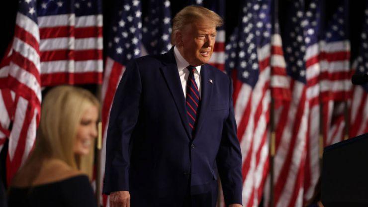 Donald Trump accepts Republican nomination in deranged White House speech