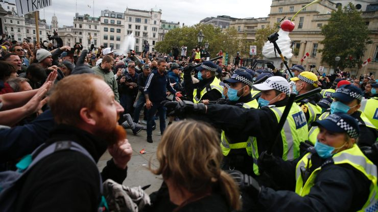 Protestors and police officers injured at anti-lockdown protest