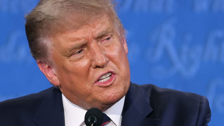 """Donald Trump tells far right group to """"stand by"""" during presidential debate"""