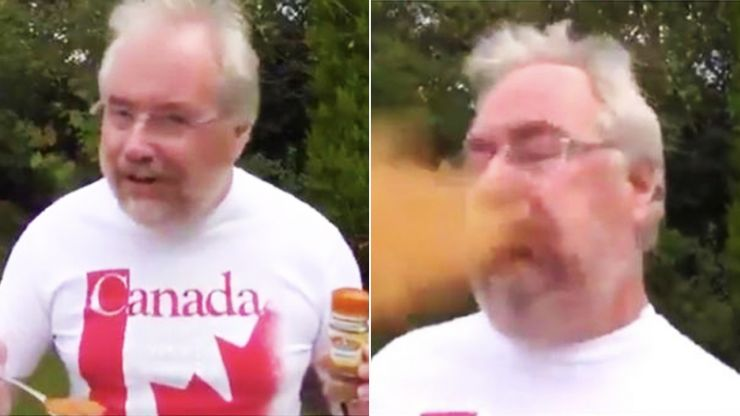 A new generation has discovered Mike Parry eating cinnamon
