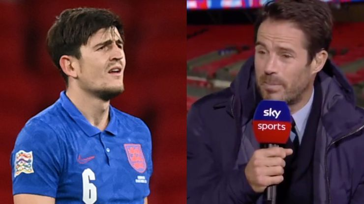 Jamie Redknapp backs under fire Harry Maguire after England red card