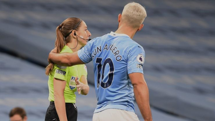 Pep Guardiola defends Sergio Aguero after he grabbed Sian Massey-Ellis