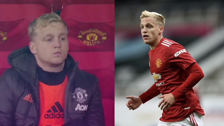 Fans rage as sad-looking Donny van de Beek watches on from the stand again